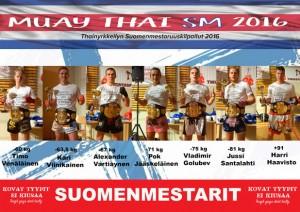 Suomenmestarit 2016, miehet